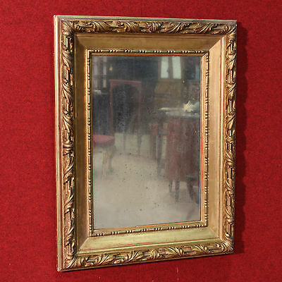 BELLA MIRROR WOOD CHALK CARVED GOLDEN GOLD ITALY PERIOD FIRST '900 H 95 cm