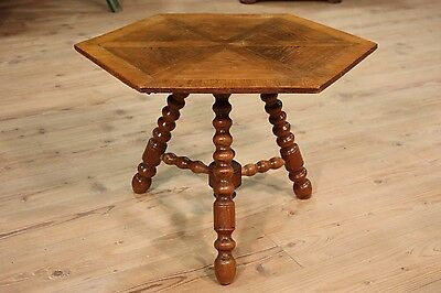 Low bedside table wood oak north european furniture living room antique style XX