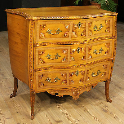 Dresser Dresser Moved Convex Three Drawers Paint Sweden Period First '900