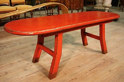 TABLE CONSOLE EASTERN LACQUERED RED GRAN SERVICE PERIOD '900 (L 174 cm)