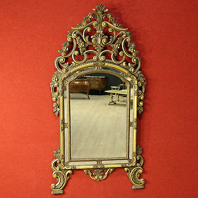 GRANDE MIRROR CARVED LACQUERED And GOLDEN ITALY TORINO PERIOD '900 H 162 cm