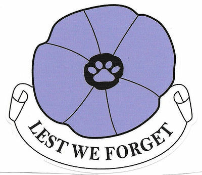 Purple Poppy Remembering The Animals That Have Served And Died In All Conflicts