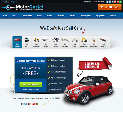 MotorCartel Classifieds Website business seeks venture capitalist or partner/s