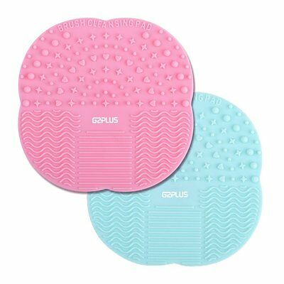 G2PLUS Silicone Brush Cleaner 2 PCS Make Up Brushes Cleaning Pad Little...