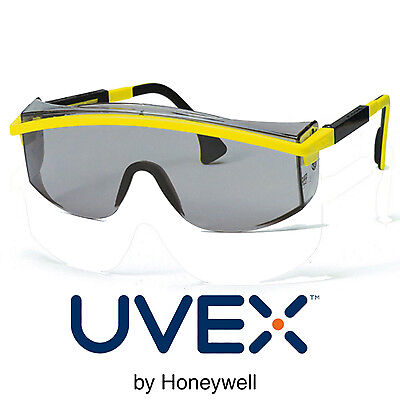 Honeywell Uvex Astrospec Safety Glasses [9168-135] Yellow/Black Tinted OPTIDUR