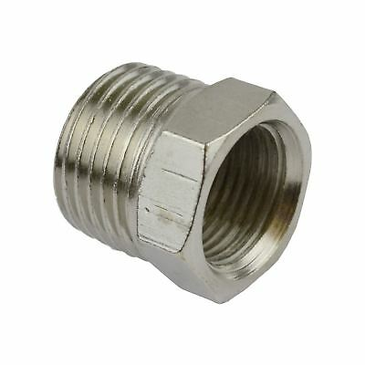 Threaded Adapter Hex Bush 1/4 inch BSP Male to 1/8 BSP Female Air Line Fitting