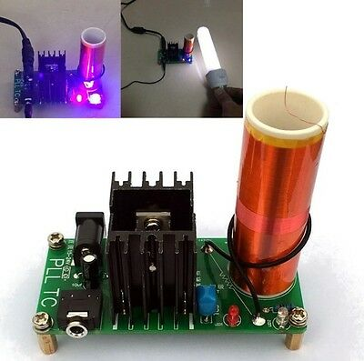 15W Mini Tesla Coil Plasma Speaker Set Electronic Field Music Project Parts CA