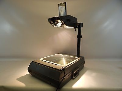 3M 2000 AG Overhead Projector Briefcase Portable w/ Transparency Film Works!