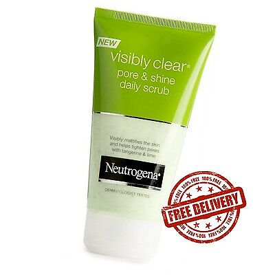 Visibly Clear Pore and Shine Daily Scrub Face Skin Care 150ml by Neutrogena NEW