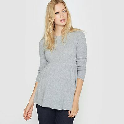 LA REDOUTE LADIES MATERNITY JUMPER GREY SIZE 10 - 12 NEW (ref 421)