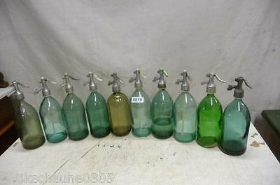 8819. 10 alte Sodaflaschen Siphonflasche Old soda siphon seltzer