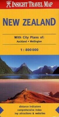 New Zealand Insight Travel Map by hema-maps-staff Sheet map, folded Book The