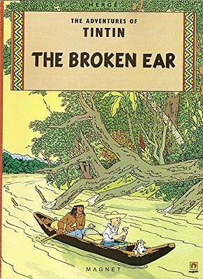 The Broken Ear (Adventures of Tintin), Herge Hardback Book The Cheap Fast Free