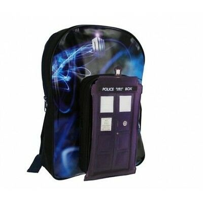 Rare Design Dr Who Tardis Blue Call Box Backpack School Bag Holiday Luggage