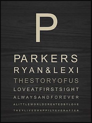 Personalized Laser Engraved LOVE AT FIRST SIGHT Lithograph, Wedding/Anniversary