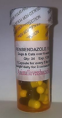 Oral Wormer Medication for Cats, Kittens, Dogs & Puppies, 48 Capsules
