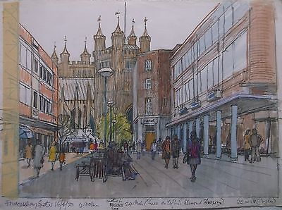 COLOURED GRAPHITE DRAWING by FREDERICK GEORGE WILLS 1901-1993 R.I. EXETER