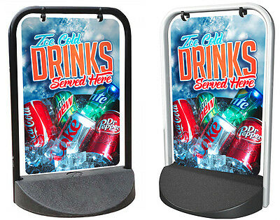 ICE COLD DRINKS PAVEMENT SIGN, ADVERTISING, SHOP DISPLAY, Burger Van, Ice Cream