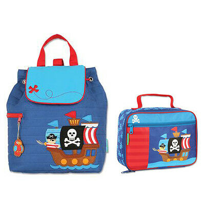 Stephen Joseph Lunch Box & Quilted Backpack Pirate/Alligator Pirate Unisex Kids