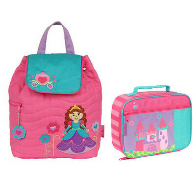 Stephen Joseph Lunch Box & Quilted Backpack Castle/Princess Unisex Kids Lunch B