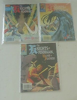 Knights of the Pendragon Vol 1 #2 3 4 Marvel UK