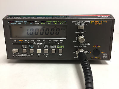 Fluke/Philips PM6669/011 120 MHz Freq Counter IEEE-488 Used Tested Ships Free