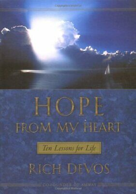 Hope from My Heart by DeVos Sr, Richard Hardback Book The Cheap Fast Free Post