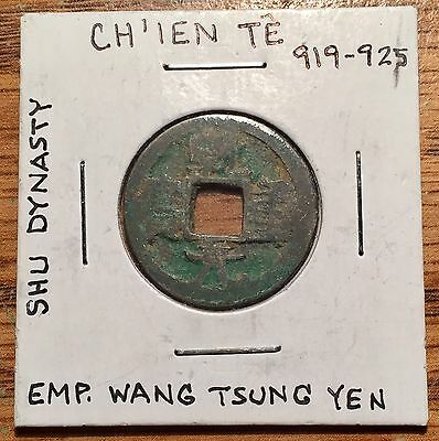 919 - 925 Ad China Shu Dynasty Emperor Wang Tsung Yen 5 Cash Coin