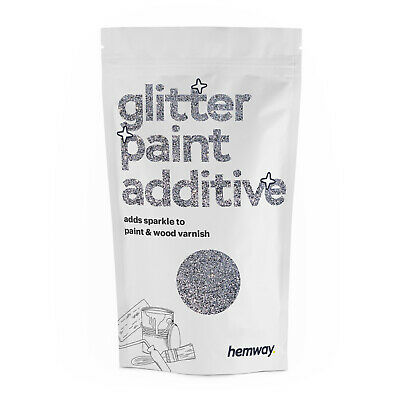 Hemway Glitter Wall Paint Additive Silver 100g for Emulsion Ceiling Bedroom