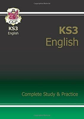 KS3 English Complete Study & Practice by CGP Books Paperback Book The Cheap Fast