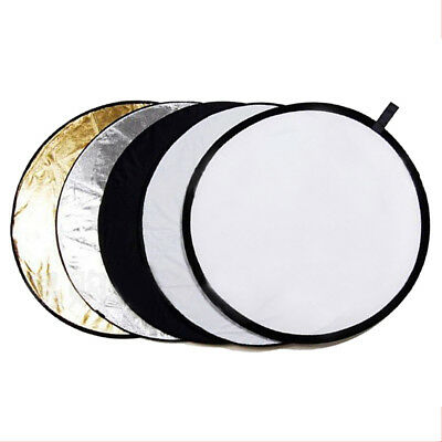 """110CM 5-in-1 Photograph Disc Collapsible Light Reflector Multi Photo 43"""" Studio"""