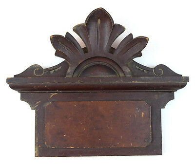 Antique Relief Carved Wood Pediment Wall Archiectural Salvage Ornate Home Decor