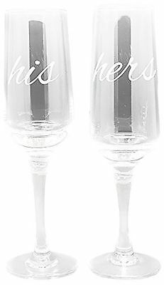 TMD Holdings His and Hers Flute Clear Set of 2 New