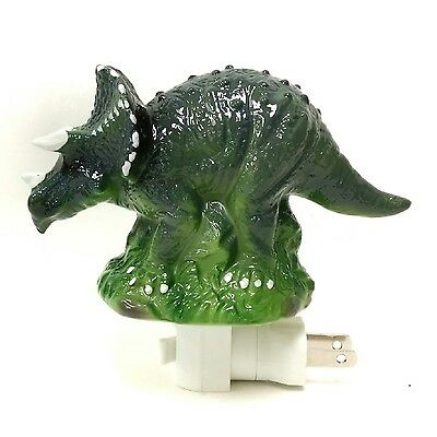 Dreamerzzz... Jurassic Triceratops Porcelain Night Light New