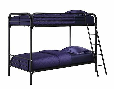 DHP Twin Over Twin Metal Bunk Bed Black New