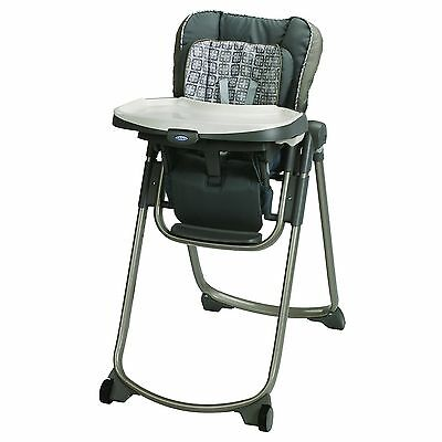 Graco Slim Spaces High Chair Finland Grey/Brown New