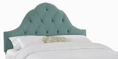 Skyline Furniture Velvet Full/Queen Tufted High Arc Headboard Caribbean New