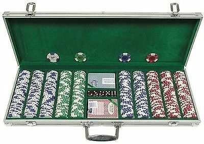 Trademark 500 Landmark Lucky Crowns 11.5g Poker Chips with aluminum Case ... New
