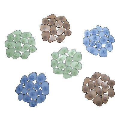 InterDesign Pebblz Non-Slip Safety Treads for Shower Bathtub - Set of 6 A... New