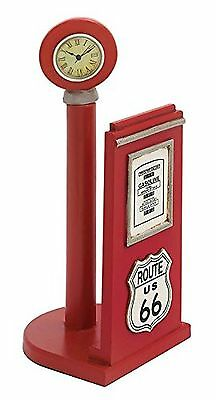 Deco 79 Wood Gas Pump Paper Holder 7 by 17-Inch Red New