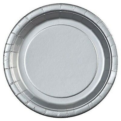 Party Dimensions 71872 24 Count Paper Plate 7-Inch Silver New