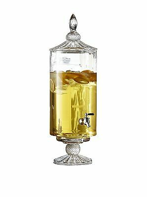Fifth Avenue Crystal Westchester Optic Glass Beverage Dispenser New