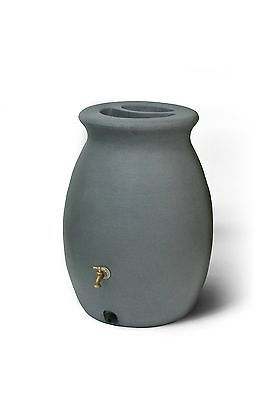 Algreen Products Castilla 50-Gallon Rain Barrel with Brass Spigot Charcoa... New