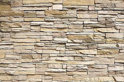 Stonewall photo wallpaper  Asian stonewall light brown mural  stones wall... New