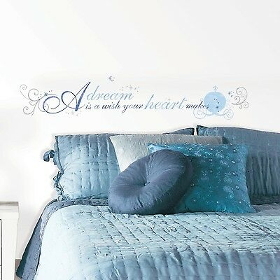 """RoomMates RMK2438SCS Cinderella """"A Dream is A Wish"""" Peel and Stick Wall D... New"""