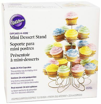 Wilton 307-250 Cupcakes-n-More 24-Count 4-Tier Mini Dessert Stand 24ct New