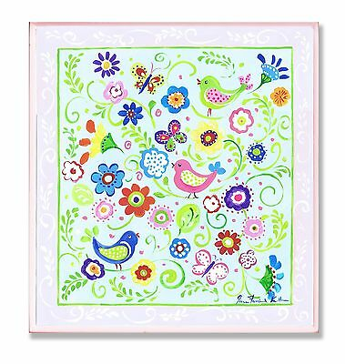 The Kids Room by Stupell Birds Butterflies and Blossoms with Pink Border ... New