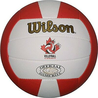 Wilson Volleyball Canada Gold Official Game Ball-White/Red New
