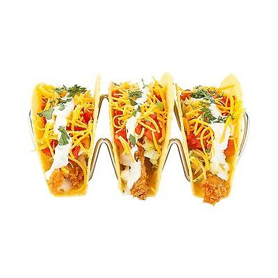 Restaurantware 1 Count Triplo Stainless Steel Taco Rack Stand 6.7-Inch Si... New