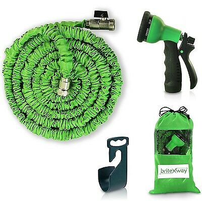 Expendable Garden Hose - 50 Ft Retractable Lightweight & Flexible - 8 Pat... New